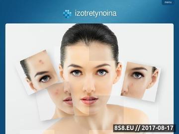 Zrzut strony Informacje o izotretynoinie