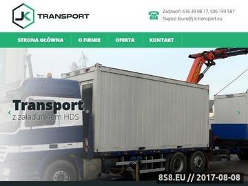 Zrzut strony Transport hds Poznań