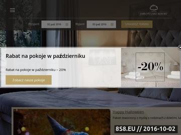 Zrzut strony Jabłoń Resort na Mazurach