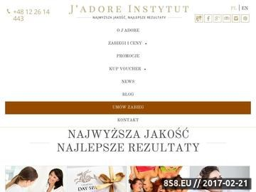 Zrzut strony Jadore Instytut