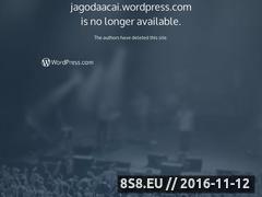 Miniaturka domeny jagodaacai.wordpress.com