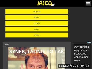 Zrzut strony JAJCO.pl - Śmieszne zdjęcia i obrazki