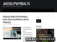 Miniaturka domeny jakisklepwybrac.pl