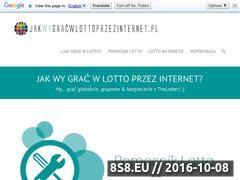Miniaturka domeny jakwygracwlottoprzezinternet.pl