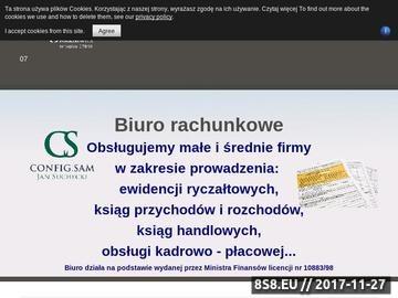 Zrzut strony Biuro rachunkowe PHU CONFIG.SAM - prowadzenie ksiąg handlowych