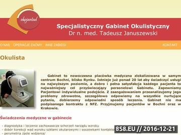 Zrzut strony Dr Tadeusz Januszewski - okulista Bochnia