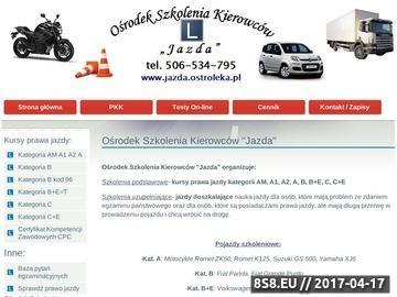 Zrzut strony Nauka jazdy Ostrołęka Prawo jazdy Jazdy doszkalające Szkoła Kursy