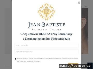 Zrzut strony Gabinet kosmetyczny Jean Baptiste
