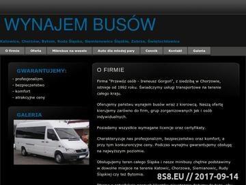 Zrzut strony Przewoz osób, wynajem busa - Ireneusz Gorgoń