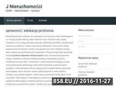 Miniaturka domeny www.jnieruchomosci.pl