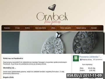 Zrzut strony GRZYBEK Jubiler