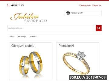 Zrzut strony Biżuteria oraz zegarki
