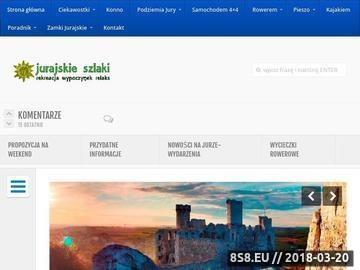 Zrzut strony Jurajskie szlaki, informacje z regionu i opisy szlaków turystycznych