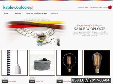 Zrzut strony Kabel w oplocie - kabel, przewód, kolorowe kable, kable w oplocie