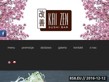 Zrzut strony KAIZEN S.C. - Dostawa sushi do Józefosławia