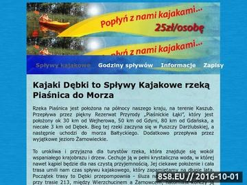 Zrzut strony Spływy Kajakowe rzeką Piaśnica do morza w miejscowości Dębki