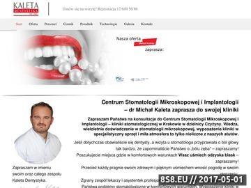 Zrzut strony Gabinet stomatologiczny Kraków