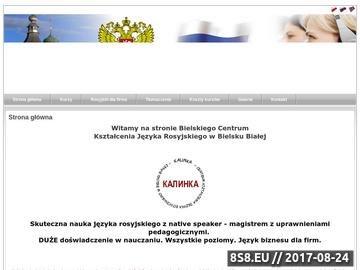 Zrzut strony Kalinka - Kursy języka rosyjskiego : Szkolenia języka rosyjskiego :