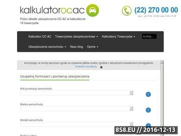 Zrzut strony Kalkulator ubezpieczenia OC