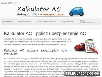 Zrzut strony Kalkulator Autocasco