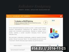 Miniaturka domeny kalkulatorkredytowy.pl