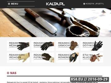 Zrzut strony Kalta.pl - sklep internetowy z rękawiczkami skórzanymi