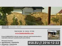 Miniaturka domeny www.kamieniarka.e-biznes.org