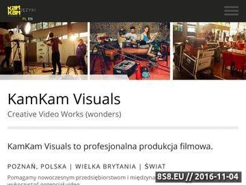 Zrzut strony KamKam Visuals - produkcja filmowa, film reklamowy Poznań