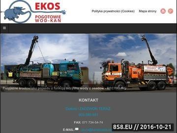 Zrzut strony EKOSS Pogotowie kanalizacyjne - Wrocław