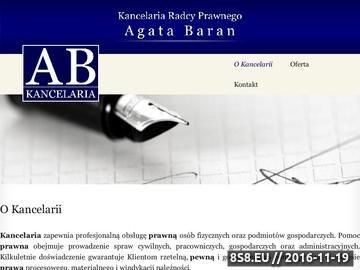 Zrzut strony Kancelaria Radcy Prawnego w Tarnowie