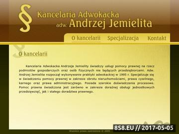 Zrzut strony Kancelaria adwokacka adw. Andrzej Jemielita usługi prawne