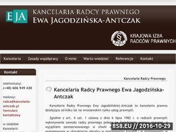 Zrzut strony Radca Prawny Ewa Jagodzińska-Antczak Wrocław