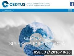Miniaturka domeny kancelaria-certus.pl