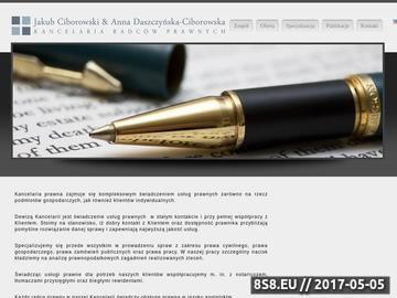 Zrzut strony Kancelaria prawna w specjalizacji prawo pracy - Ciborowski, Kraków