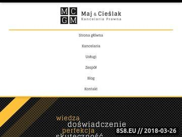 Zrzut strony Obsługa prawna Warszawa