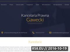 Miniaturka domeny www.kancelaria-gawecki.pl