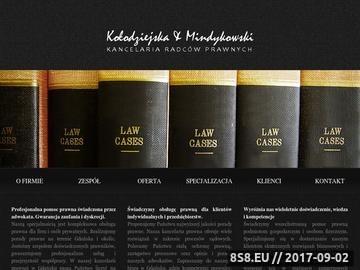 Zrzut strony Kancelaria prawna Gdańsk