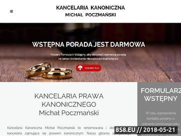 Zrzut strony Adwokat kościelny Michał Poczmański