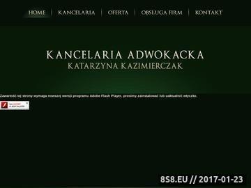 Zrzut strony Adwokat Katarzyna Kazimierczak - Kancelaria Adwokacka