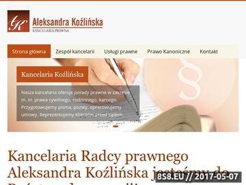 Zrzut strony Kancelaria Prawna Aleksandra Koźlińska
