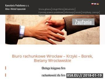 Zrzut strony Biuro Rachunkowe Wrocław, Doradztwo Podatkowe Wrocław, Audyt