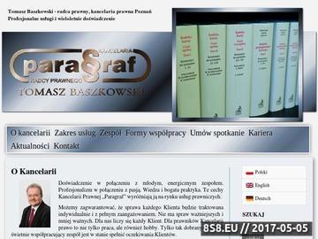 Zrzut strony Kancelaria Prawna Poznań