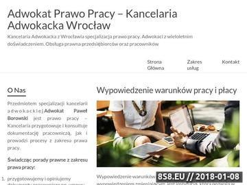 Zrzut strony Kancelaria adwokacka - prawo pracy Wrocław