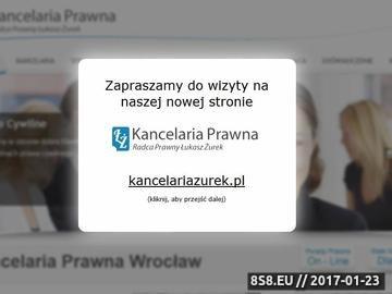 Zrzut strony Kancelaria prawna Wrocław