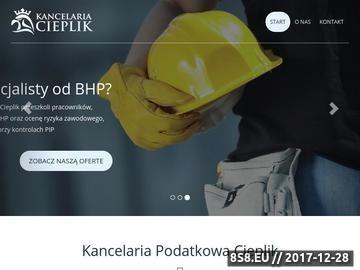 Zrzut strony Biuro rachunkowe - kancelariacieplik.pl