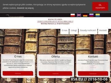 Zrzut strony Kancelaria Prawa Gospodarczego i Konsumenckiego