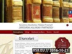 Miniaturka domeny www.kancelariajk.opole.pl