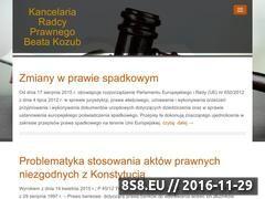 Miniaturka domeny kancelariakozub.pl