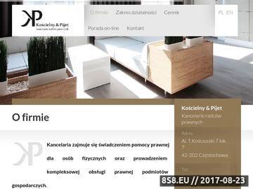 Zrzut strony Kancelariakp.pl