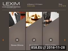 Miniaturka domeny kancelarialexim.pl